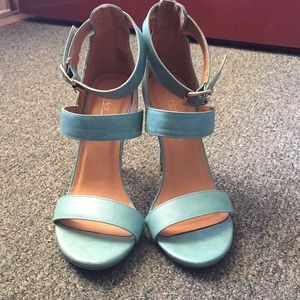 Shoes - Teal High Heels
